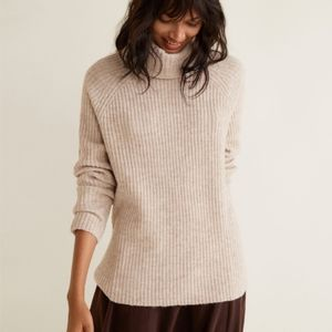 Mango Ribbed Recycled Polyester Sweater